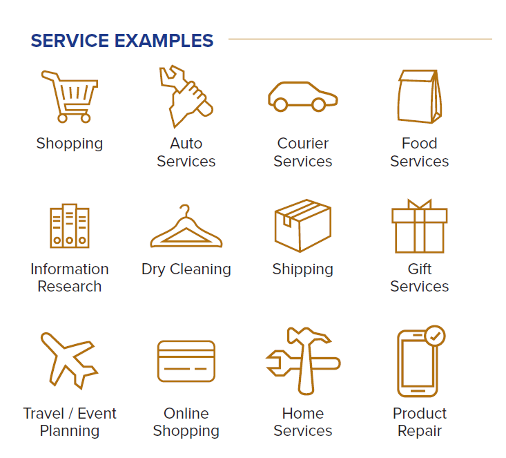 Examples of convenience services that are included in adulting benefits
