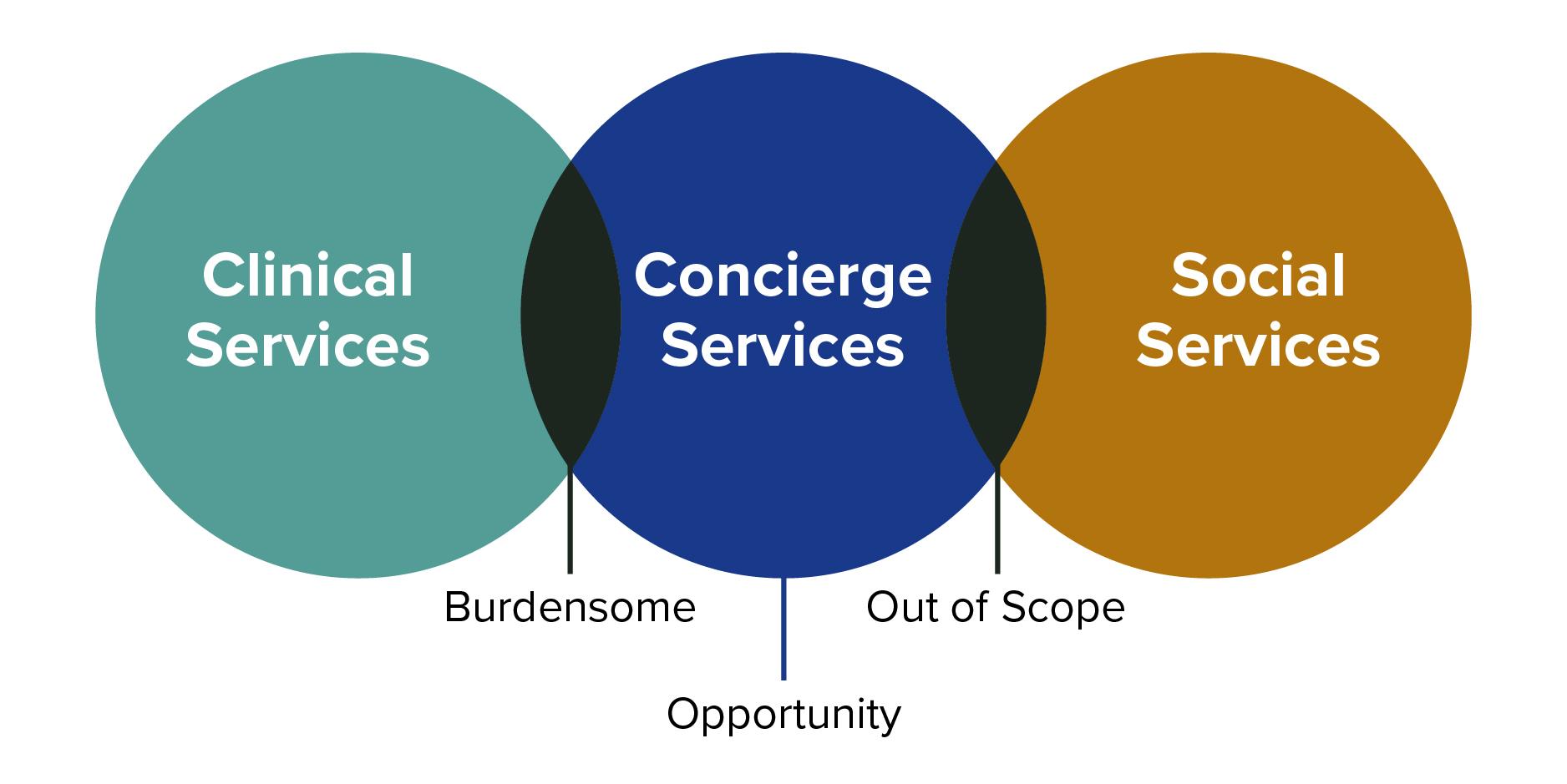 Clinical Services :: Concierge Services :: Social Services Graphic