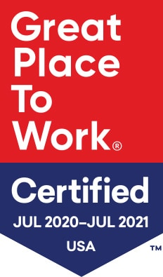 great place to work certified july 2020-july 2021 usa